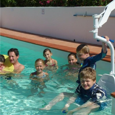 accessible pool hoist with chair lagos villa algarve portugal