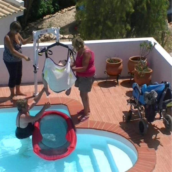 pool sling accessible swimming pool villa portugal algarve lagos