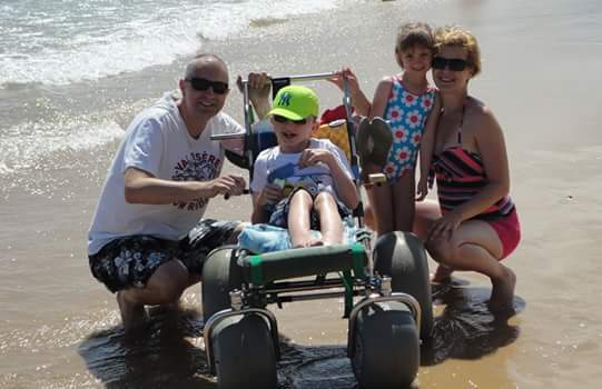 Wheelchair accessible beach for people with limited mobility algarve lagos portugal