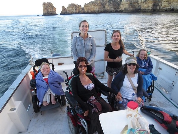 accessible wheelchair boat kayak algarve lagos portugal perfect for disabled people