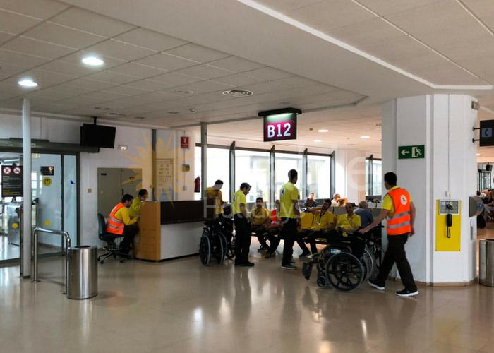 Assistance Team at Malaga Airport