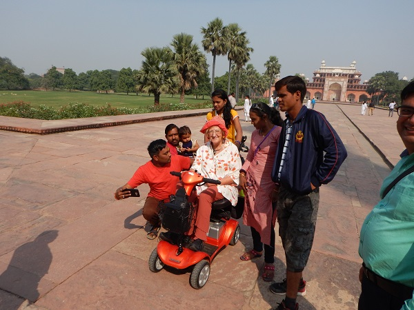 Mrs Holman Wheelchair India Holiday